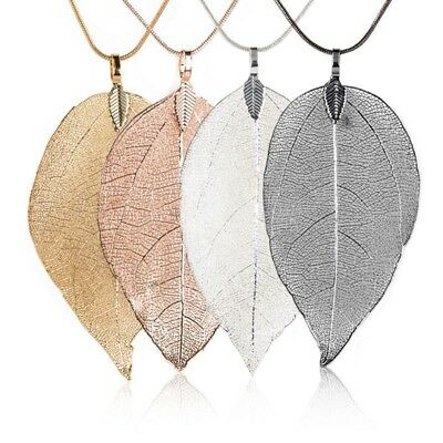 Frauen Mode Leaves Leaf Sweater Pendant Long Chain Necklace Nice Gift