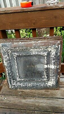 antique tin ceiling tiles lot of 6 size 2ft by 2ft