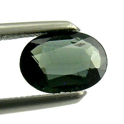 0.65 carat 6x4mm Oval Green Natural Australian Parti Sapphire Loose, OPS03