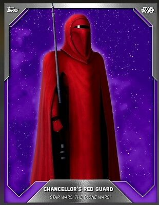 TOPPS Star Wars Card Trader: Purple Base 3 Expansion Preview Chancellor's Red Gu