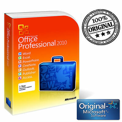 MICROSOFT OFFICE 2010 PROFESSIONAL PLUS 32/64 BIT ESD KEY Originale