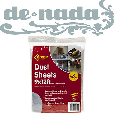 LIGHTWEIGHT 9x12 FT PROTECTOR DUST SHEETS DIY PAINTING PROTECTS FURNITURE