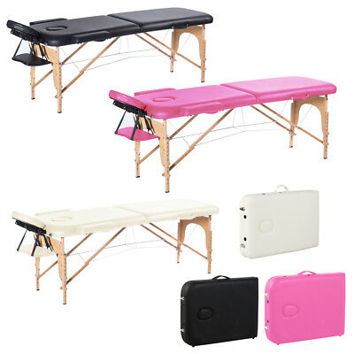 2 Section Foldable Massage Table Beauty Bed Therapy Salon Tattoo Reiki Carry Bag