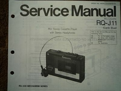 PANASONIC RQ-J11 Stereo Cassette tape Player Service manual wiring parts diagram