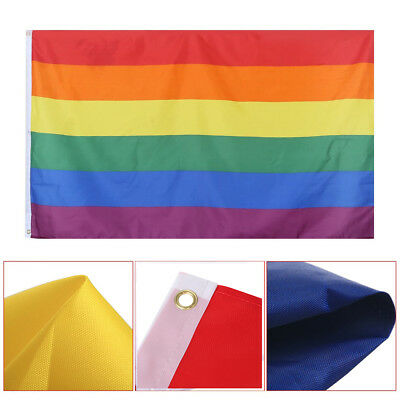 TRIXES Large LGBT Rainbow Gay Pride Festival Diversity 5ft x 3ft Flag Hot Spot