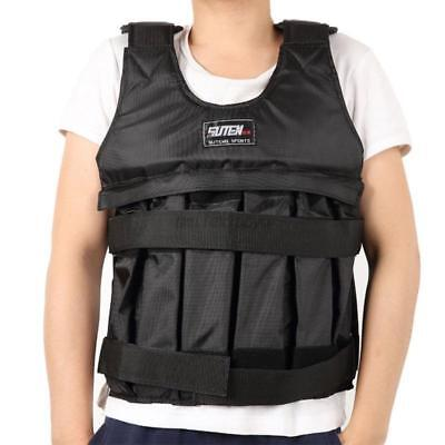 UK 20kg-50kg Adjustable Weighted Vest Sholder Pads Comfortable Weight Jacket