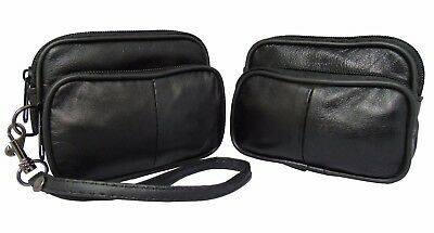 Men's Women's Leather Coin Cigarette Taxi Purse Belt Loop Travel Pouch Wallet