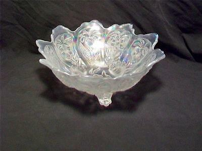 Imperial Glass Opalized Three Footed Bowl