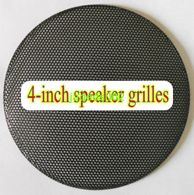 "1pcs 4""inch 133MM Speaker grilles protection net cover black Metal iron mesh"