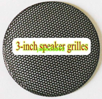 "1pcs 3""inch 79.5MM Car speaker grilles protective cover black Metal iron mesh"