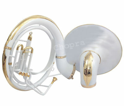Christmas Sale Sousaphone 25 Bell 3Valve Painted White Carrying Bag n M/P Free