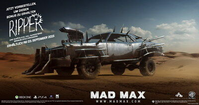 "145 Mad Max 4 Fury Road - Fight Shoot Car USA Movie 26""x14"" Poster"