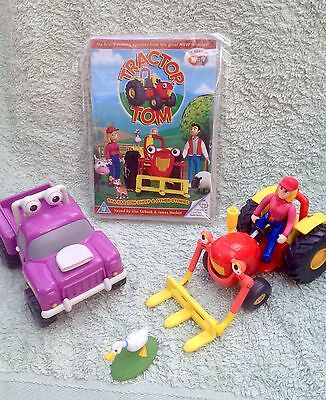 Tractor Tom Toy Figure Bundle - Tractor Tom & Rev Truck With Farmer Fi & Goose