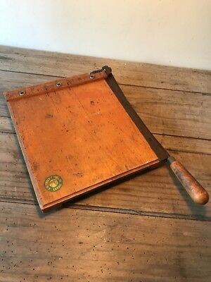 Vintage E J Arnold Guillotine Paper Cutter The Gp Cutter
