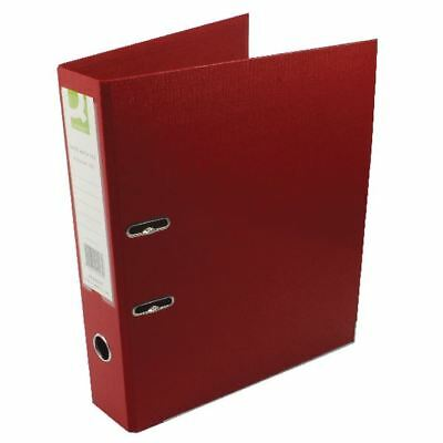 Q-Connect Polypropylene 70mm Red Lever Arch Foolscap File (Pack of 10) [KF20027]