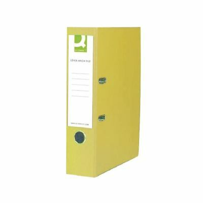 Q-Connect Polypropylene 70mm Yellow Lever Arch Foolscap File [KF01476]