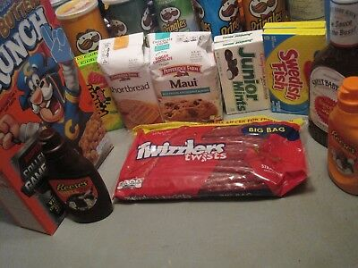 Assorted Sample of candy/sweets/treats/cereal/sauces/toppings/snacks/etc...