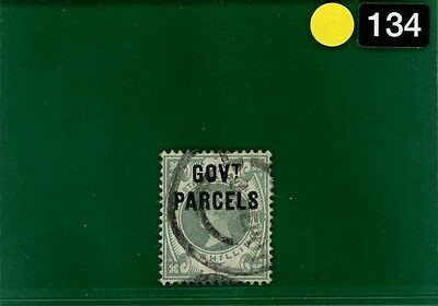 YELLOW134 GB Official 1890 1s dull green GOVT PARCELS used VFU SG.O68 cat £280