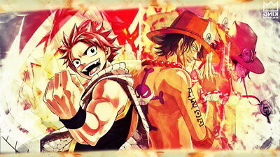 """339 One Piece - ACE OP Monkey D Luffy Fighting Japan Anime 42""""x24"""" Poster"""