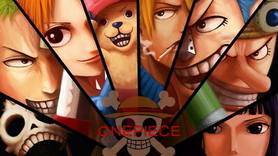 """255 One Piece - ACE OP Monkey D Luffy Fighting Japan Anime 42""""x24"""" Poster"""