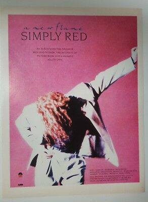 Full page simply red magazine print ad for album a new flame Approx 23cm x 29cm