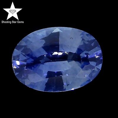 oval cut natural blue sapphire 0.87ct genuine loose gemstones
