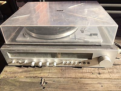 Vintage Toshiba Stereo Music System Turntable SM-2200