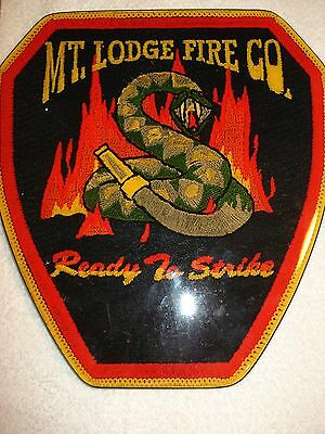 Mt. Lodge Fire Co. Ready To Serve Large Wood Sign Plaque