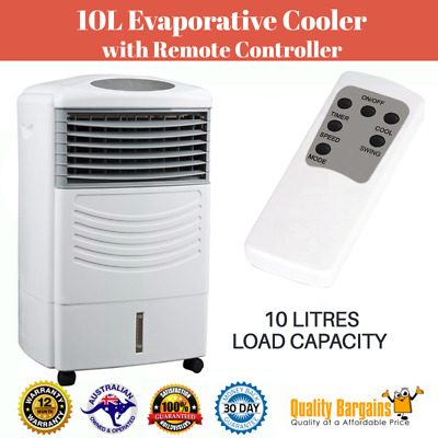 10L Evaporative Cooler with Remote Controller Air Cooling System Timer/Ice New