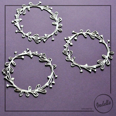 Round Chipboard Frames Card Making Papercraft Scrapbooking Embellishments 3 Pack