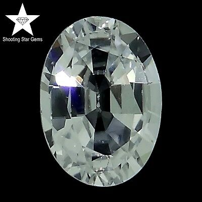 oval cut natural colourless sapphire 1.03ct genuine loose gemstones