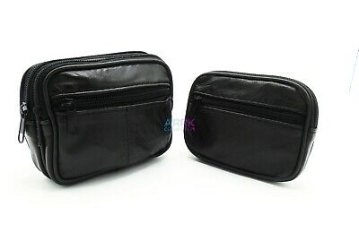 Men's Women's Leather Camera Cigarette Taxi Purse Belt Loop Travel Pouch Wallet