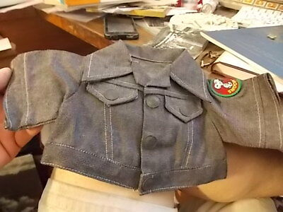 Vintage Peanuts Snoopy Dog Doll Blue Denim Jacket With Patch  Neat!