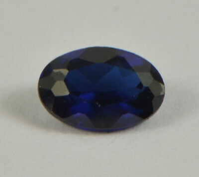 Blue sapphire, 0.62ct oval, 6x4mm. Heated only