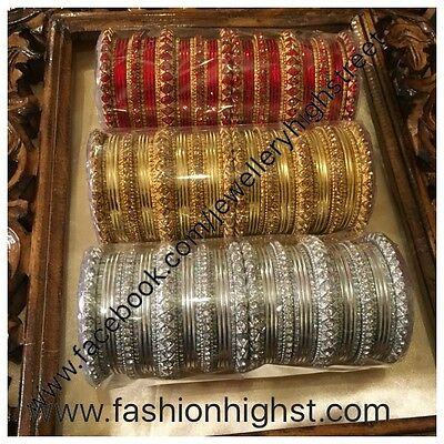 Indian/Pakistani Bridal Red & Gold Bangle,Churi, chura 2*4,2*6 & 2*8, 2*10, 2*12