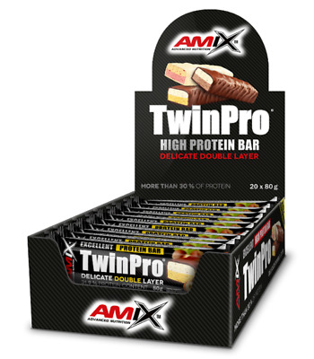 Amix Twin Pro Protein Bar 20*80 Gr