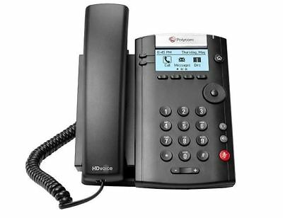 VVX 201P VoIP SIP telephone, 2 x Fast Ethernet, 2 x line keys, PoE required, AC