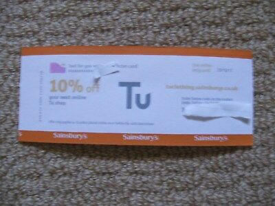 10% off TU Clothing Sainsburys voucher. Online only. Nectar points.