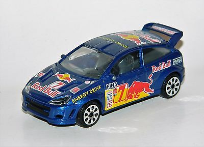 Burago 1/43 Scale #7 Ford Focus Red Bull Energy Drink Rally Car Diecast Used