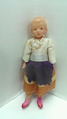 Vintage Occupied Japan Tiny Celluloid Doll Strung Legs & Arms