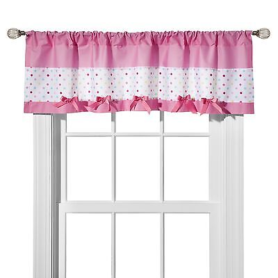 "New Circo Window Valance Pink Dots Collection (54"" x 15"")"