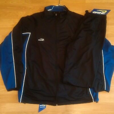 BRINE Men's Warm Up Suit/Training Suit - Black/Royal - Large - NEW