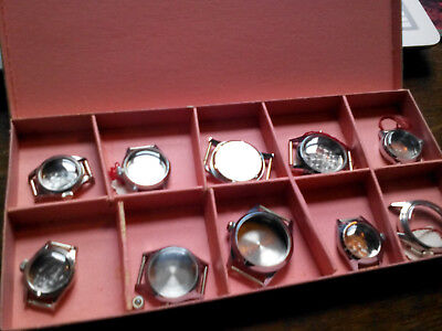 Lot 1000: NOS Vintage Swiss Made Stainless Replacement Watch Cases Box E.Schild