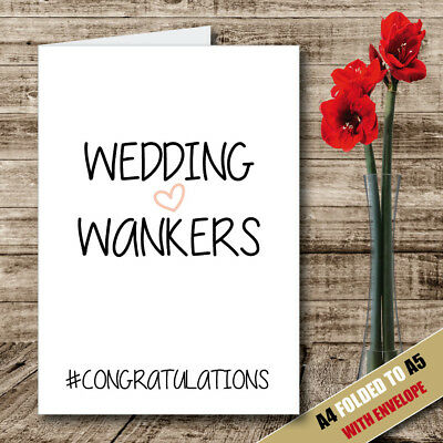 CONGRATULATIONS Wedding Card Rude Card Funny Card Engagement Card Novelty -62