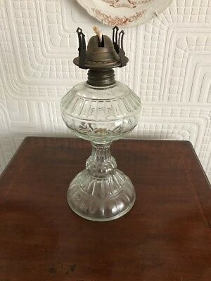 Great Vintage Glass Oil Lamp Base