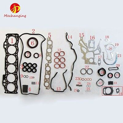 For LEXUS IS TOYOTA ALTEZZA 2.0 VVTi 1GFE METAL Full Engine Gasket Cylinder Head