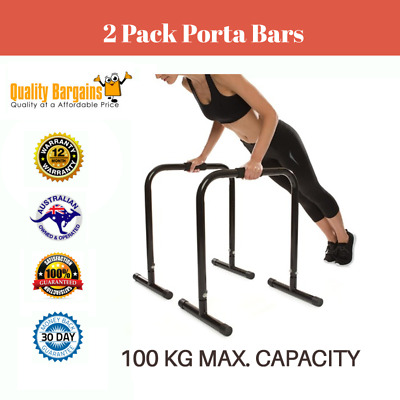2 Pack Porta Training Bars Body Fitness Exercise Workout Gym Weight Home