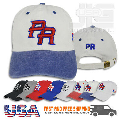 Puerto Rico Embroidered Dad Hat PR Cotton Polo Style Cap NEW