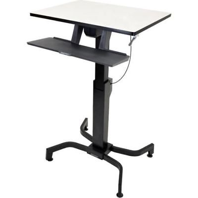 "Ergotron WorkFit-PD, Sit-Stand Desk (Light Grey) - Rectangle Top - 31.5"" Table T"