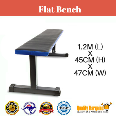 Flat Bench Weight Strength Fitness Workout Training Exercise Gym Home New